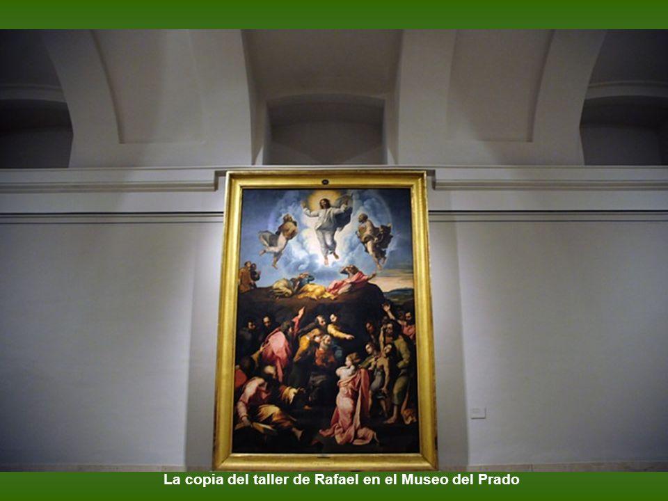 Rafael. 1518-1520. La Transfiguración. Óleo sobre tabla. 405 x 278 cm. Roma, Pinacoteca Vaticana.