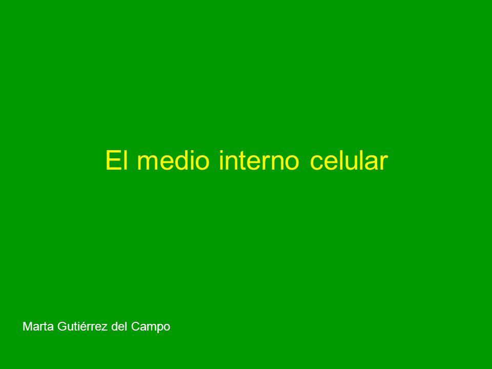 El medio interno celular Marta Gutiérrez del Campo