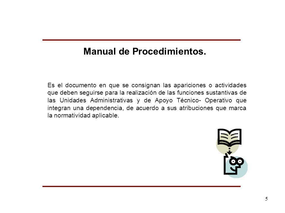 Es el documento en que se consignan las apariciones o actividades que deben seguirse para la realización de las funciones sustantivas de las Unidades