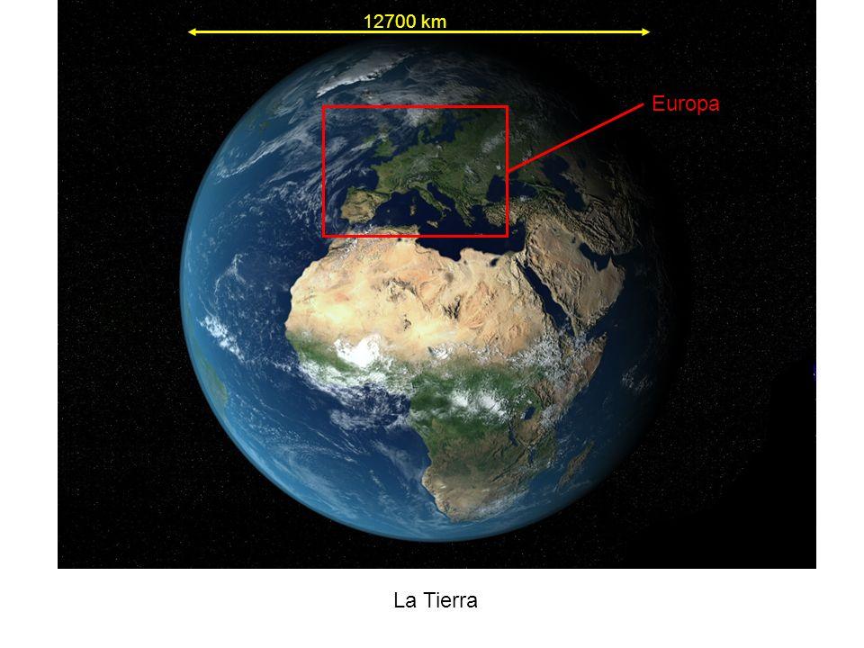 La Tierra 12700 km Europa