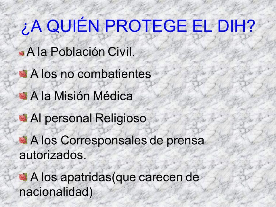 ¿ QUE PROHIBE EL D I H.