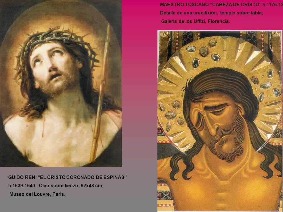 MAESTRO TOSCANO CABEZA DE CRISTO h.1175-1225. Detalle de una crucifixión; temple sobre tabla; Galería de los Uffizi, Florencia. GUIDO RENI EL CRISTO C