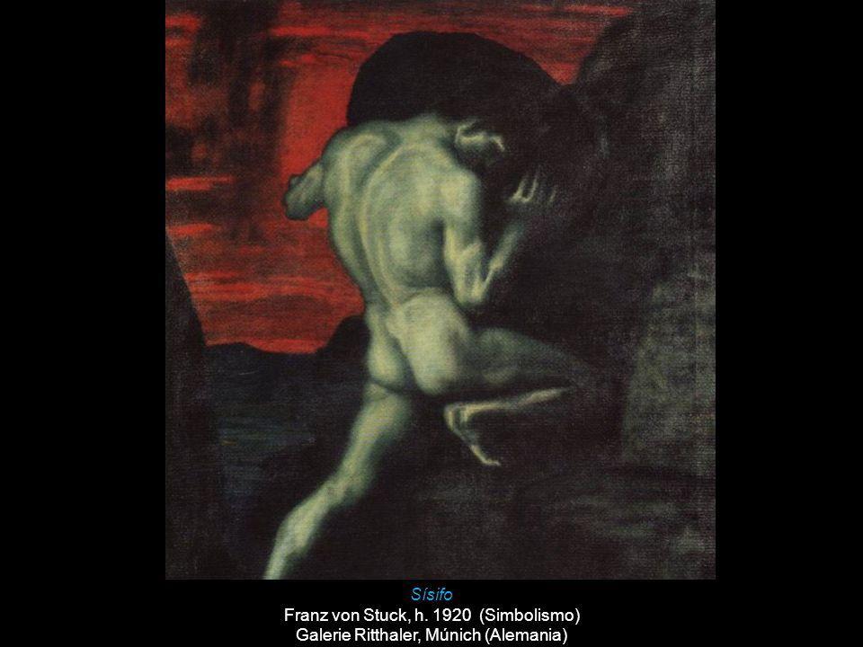 Sísifo Franz von Stuck, h. 1920 (Simbolismo) Galerie Ritthaler, Múnich (Alemania)