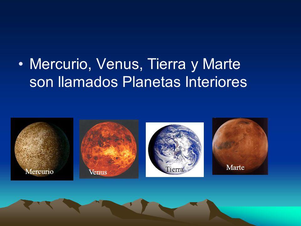 Mercurio, Venus, Tierra y Marte son llamados Planetas Interiores Mercurio Venus Tierra Marte
