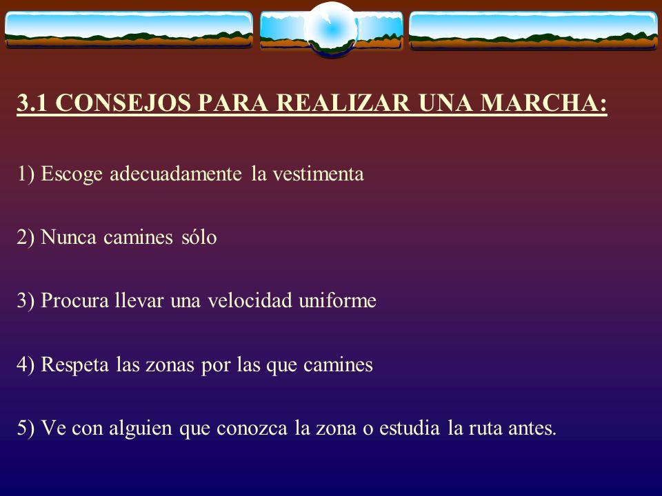 3.2 Aspectos a tener en cuenta para realizar una marcha: A) ANTES DE SALIR - ¿Dónde vamos a ir.
