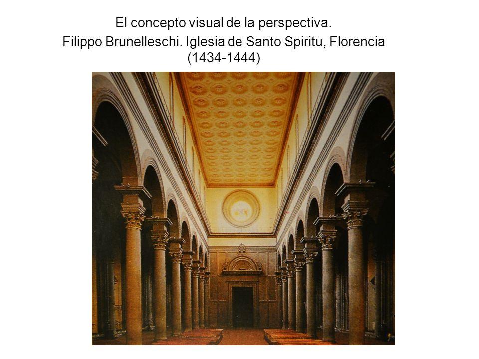 El concepto visual de la perspectiva. Filippo Brunelleschi. Iglesia de Santo Spiritu, Florencia (1434-1444)