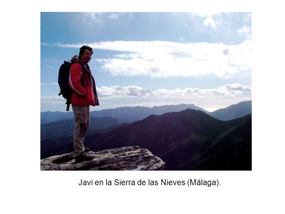 Javi en la Sierra de las Nieves (Málaga).