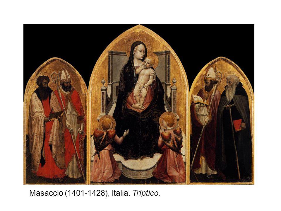 Masaccio (1401-1428), Italia. Tríptico.