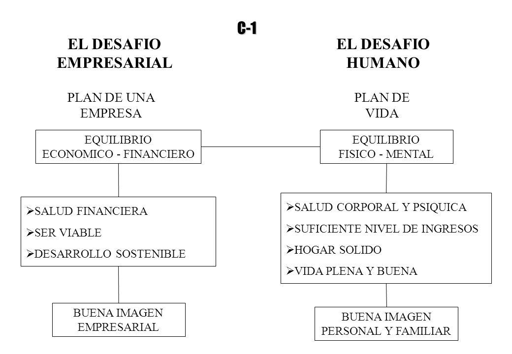 EL DESAFIO EMPRESARIAL EL DESAFIO HUMANO PLAN DE UNA EMPRESA PLAN DE VIDA EQUILIBRIO ECONOMICO - FINANCIERO EQUILIBRIO FISICO - MENTAL SALUD FINANCIER