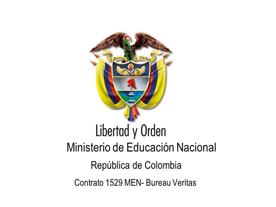 República de Colombia Ministerio de Educación Nacional Contrato 1529 MEN- Bureau Veritas
