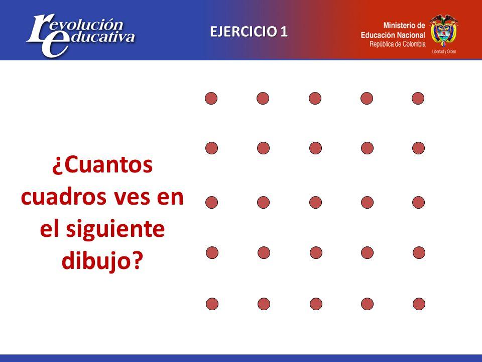 EJERCICIO 2 Intente unir los nueve puntos sin levantar el lápiz, con solo cuatro líneas rectas y sin repisar ninguna línea.