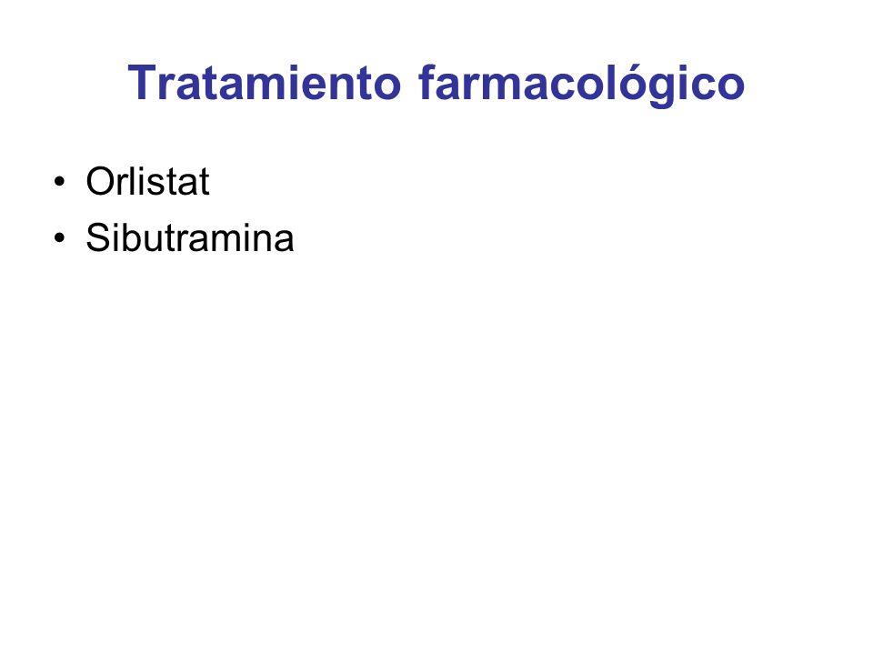 Tratamiento farmacológico Orlistat Sibutramina