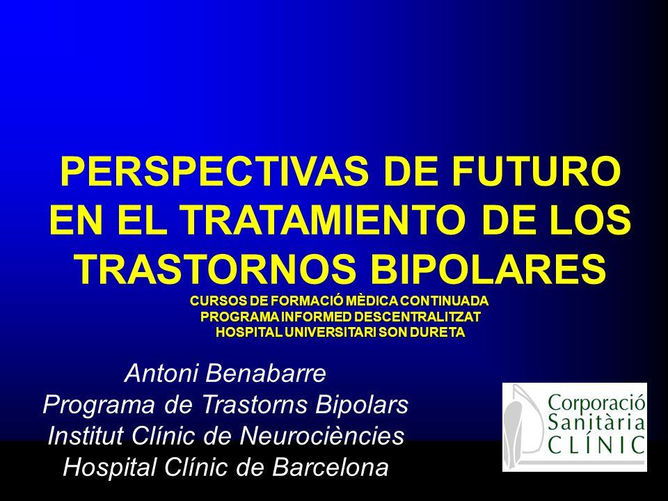 TRATAMIENTO DE MANTENIMIENTO: La carbamacepina Existen estudios que avalan su efectividad en el mantenimiento del trastorno bipolar.