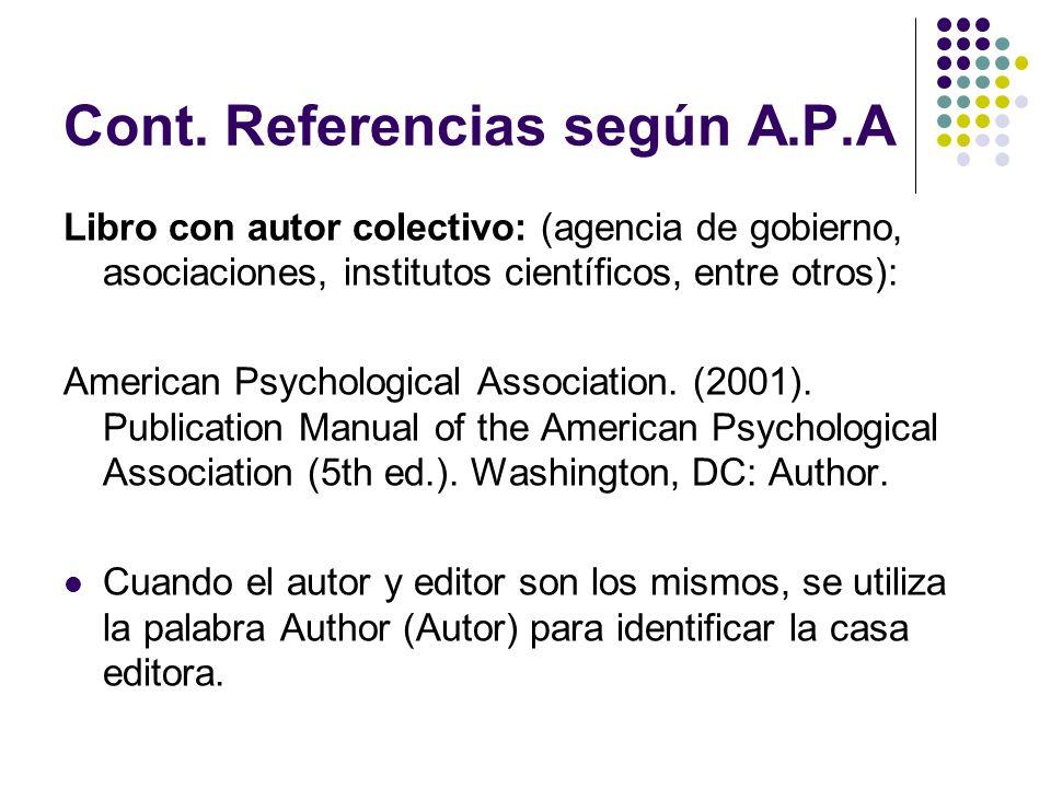 Cont.Referencias Enciclopedia: Llorca, C. (1991).