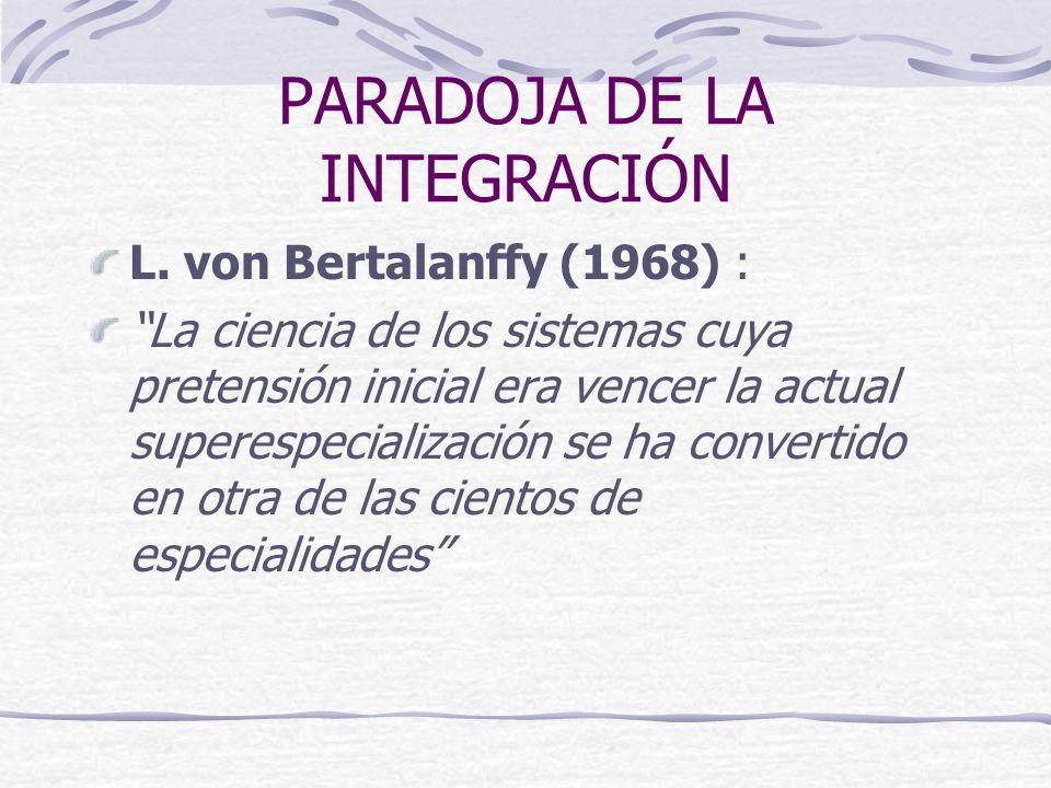 PARADOJA DE LA INTEGRACIÓN L.