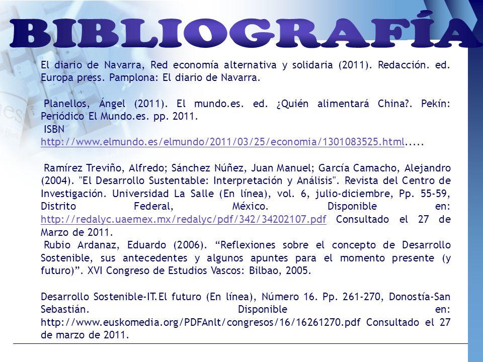 El diario de Navarra, Red economía alternativa y solidaria (2011). Redacción. ed. Europa press. Pamplona: El diario de Navarra. Planellos, Ángel (2011