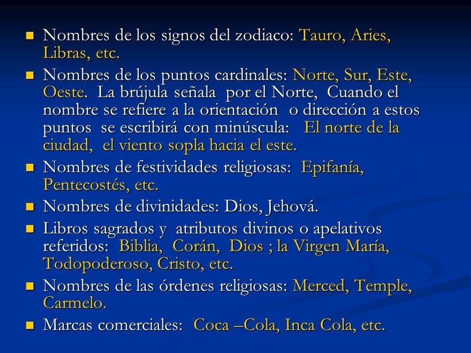 Nombres de los signos del zodiaco: Tauro, Aries, Libras, etc. Nombres de los signos del zodiaco: Tauro, Aries, Libras, etc. Nombres de los puntos card