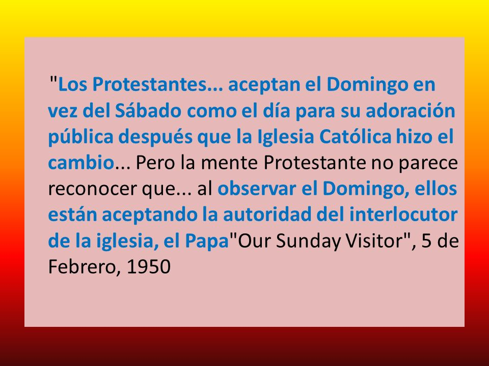 Los Protestantes...
