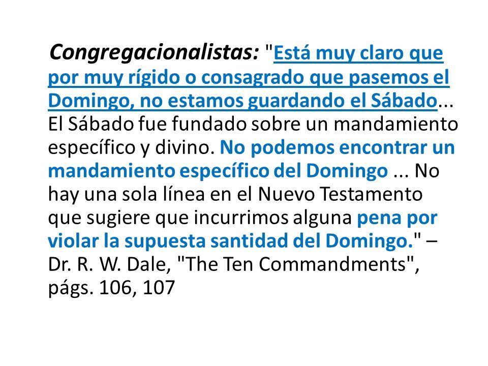 Congregacionalistas: