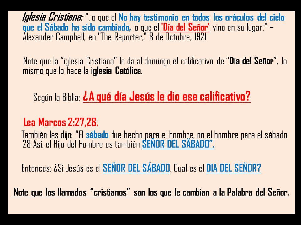 Iglesia Cristiana :