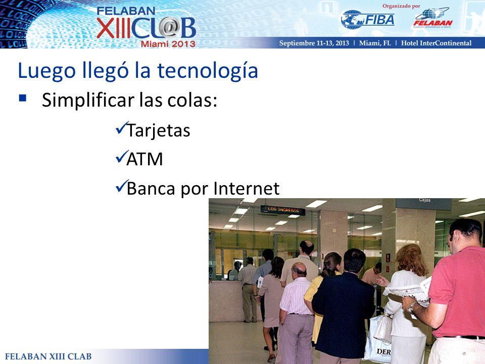 Luego llegó la tecnología Simplificar las colas: Tarjetas ATM Banca por Internet