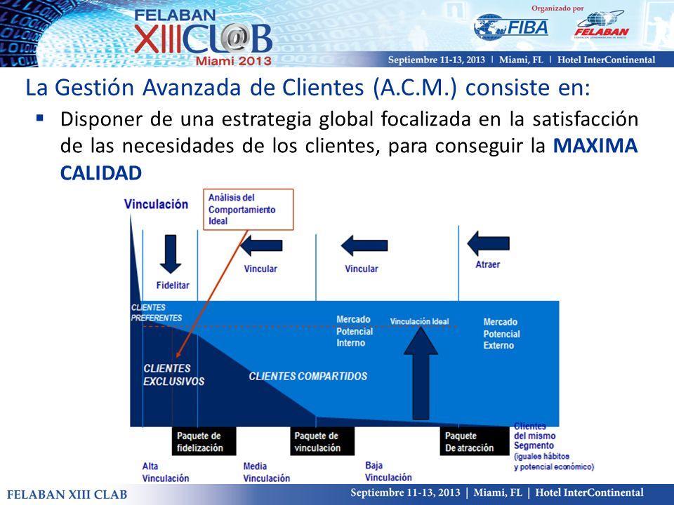 Disponer de una estrategia global focalizada en la satisfacción de las necesidades de los clientes, para conseguir la MAXIMA CALIDAD La Gestión Avanza