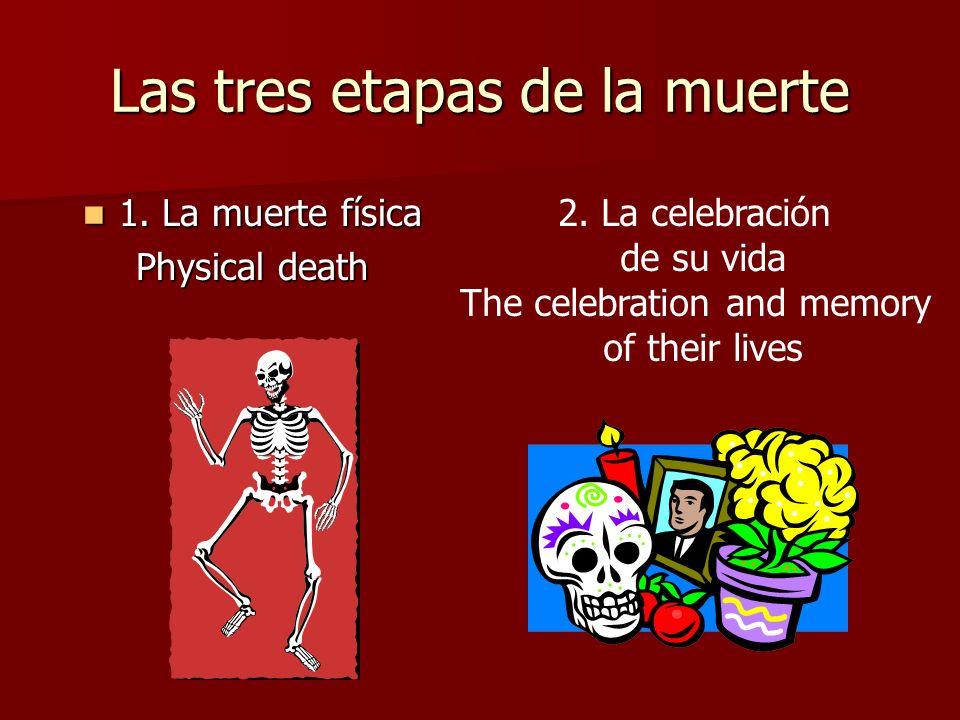Las tres etapas de la muerte 1. La muerte física 1. La muerte física Physical death 2. La celebración de su vida The celebration and memory of their l