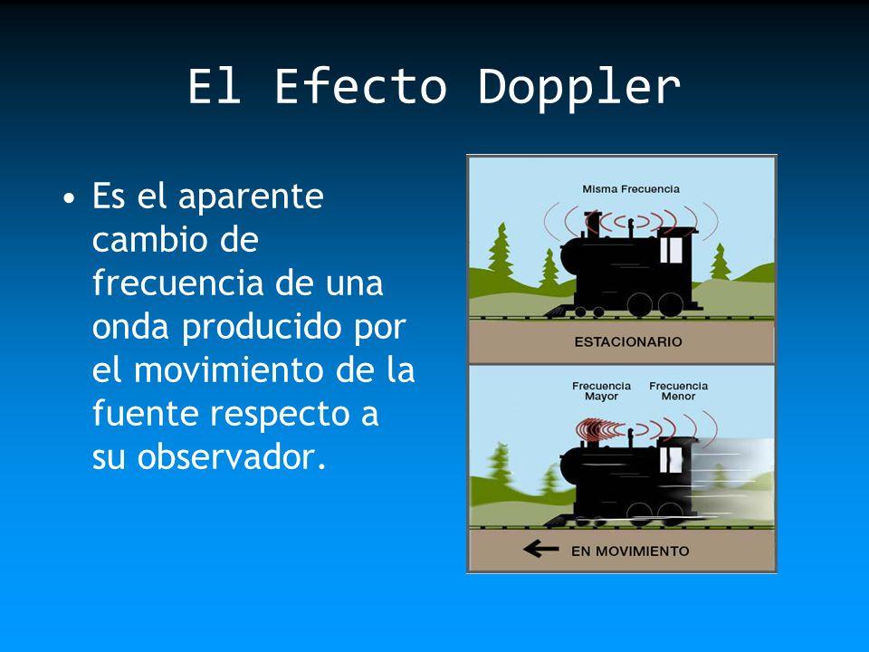 El Efecto Doppler Es el aparente cambio de frecuencia de una onda producido por el movimiento de la fuente respecto a su observador.
