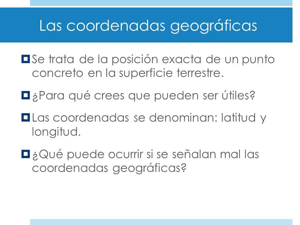 Actividades: 1.Dibuja en tu cuaderno el globo terrestre y sitúa en él toda la información de la diapositiva 15. 2.Busca en Internet por dónde pasa el