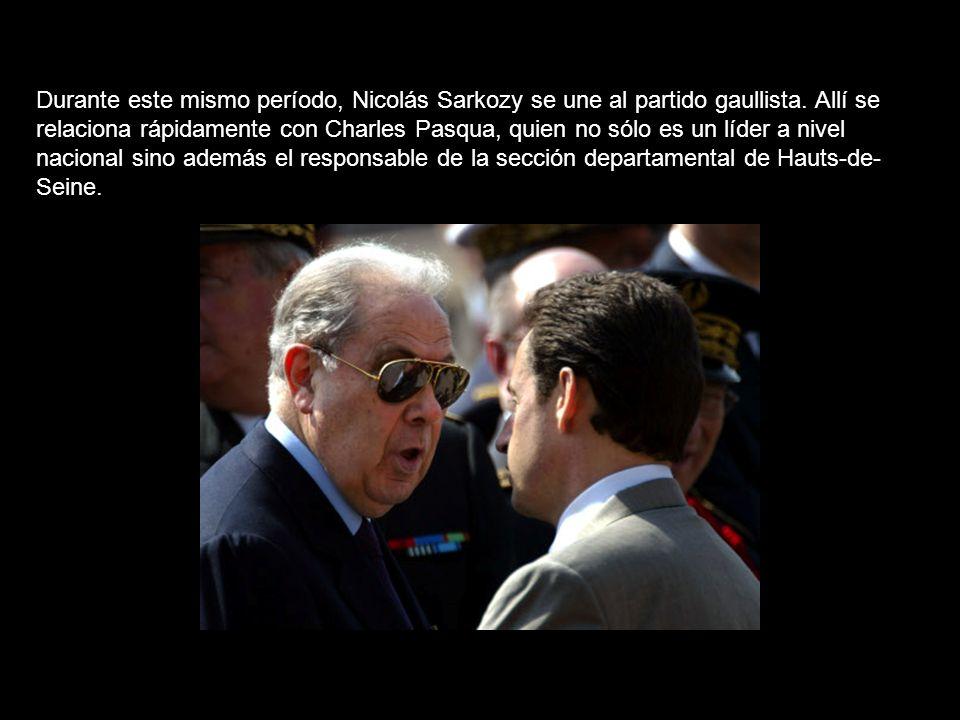 Durante este mismo período, Nicolás Sarkozy se une al partido gaullista.