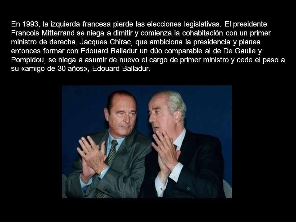 En 1993, la izquierda francesa pierde las elecciones legislativas.
