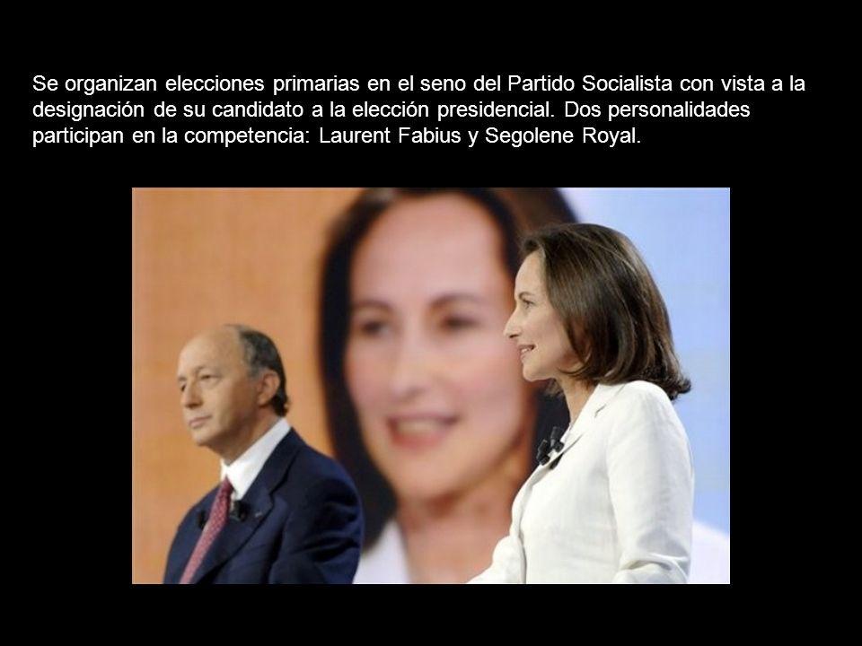 Se organizan elecciones primarias en el seno del Partido Socialista con vista a la designación de su candidato a la elección presidencial.