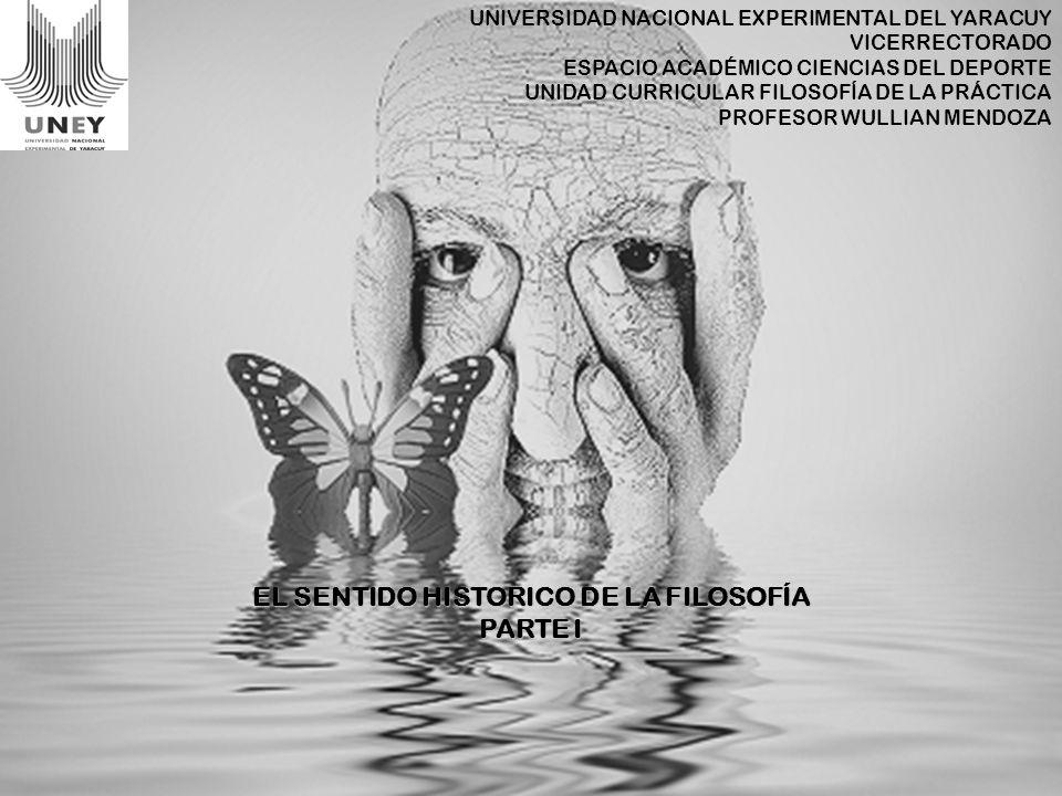 UNIVERSIDAD NACIONAL EXPERIMENTAL DEL YARACUY VICERRECTORADO ESPACIO ACADÉMICO CIENCIAS DEL DEPORTE UNIDAD CURRICULAR FILOSOFÍA DE LA PRÁCTICA PROFESO