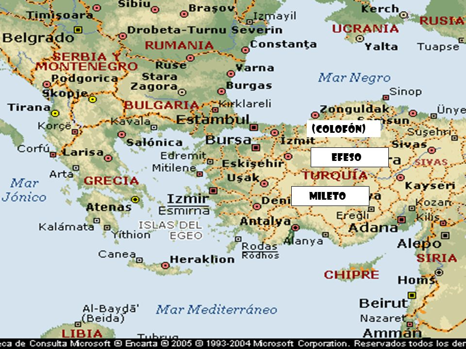 Mileto Efeso (Colofón)