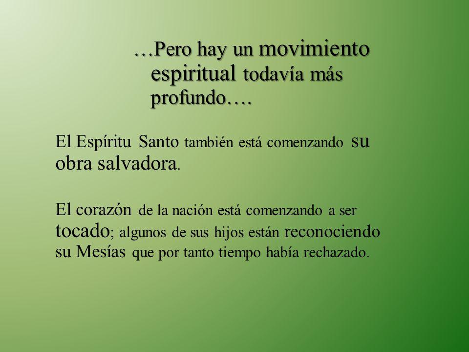 El Espíritu Santo también está comenzando su obra salvadora. El corazón de la nación está comenzando a ser tocado ; algunos de sus hijos están reconoc