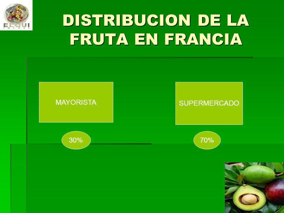 DISTRIBUCION DE LA FRUTA EN FRANCIA MAYORISTA SUPERMERCADO 70%30%