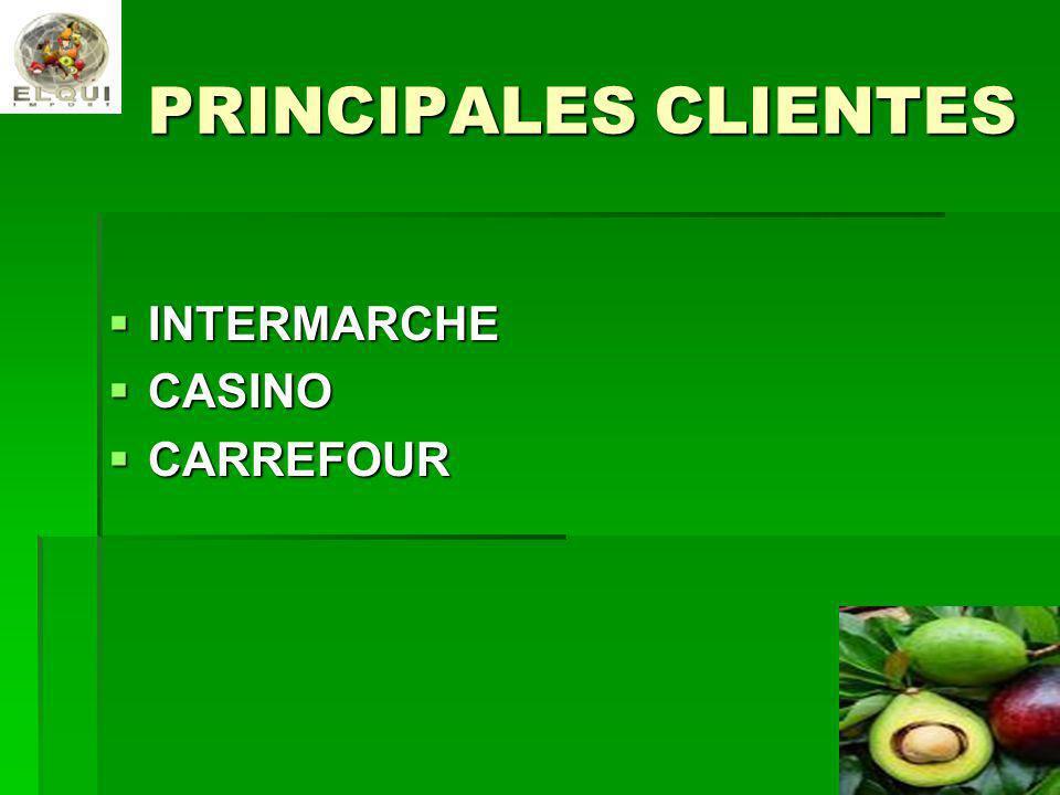 PRINCIPALES CLIENTES INTERMARCHE INTERMARCHE CASINO CASINO CARREFOUR CARREFOUR