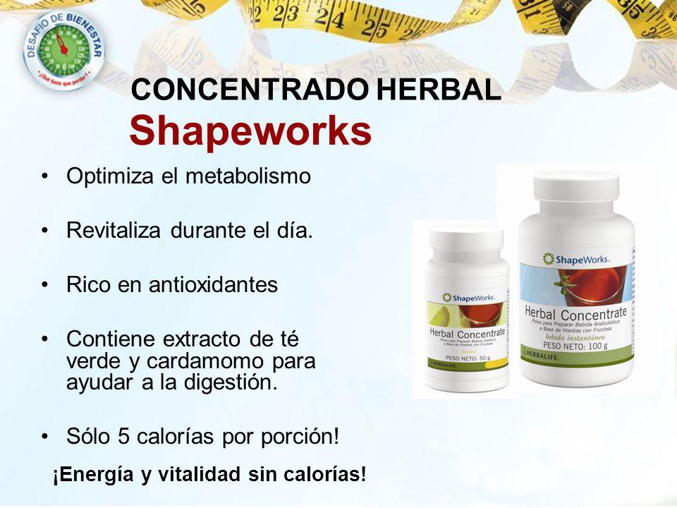 Optimiza el metabolismo Revitaliza durante el día. Rico en antioxidantes Contiene extracto de té verde y cardamomo para ayudar a la digestión. Sólo 5