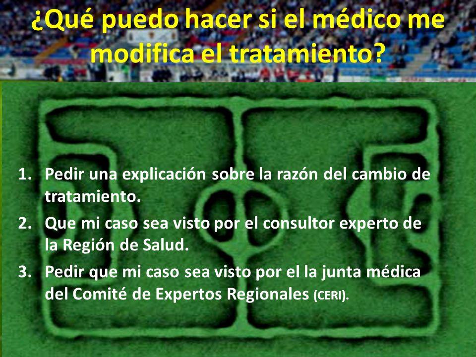 rigeljave2008@yahoo.es ¿Qué puedo hacer si el médico me modifica el tratamiento.