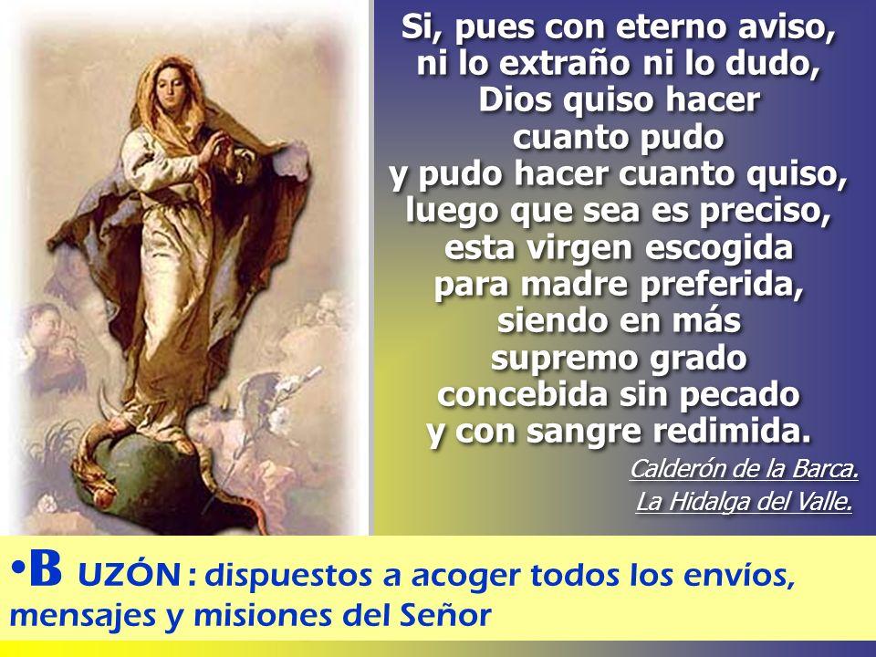 Visitó la Paloma a la Azucena, en el ánfora del DíA. Saludó: ¡Ave María! Toda su carne se hizo LUZ. ¡JESÚS! Guido Reni M.Ruiz del Castillo. A VE : sal