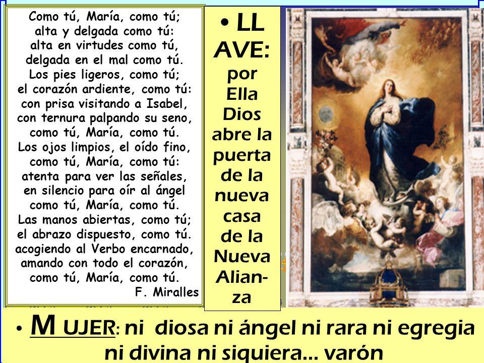 Como tú, María, como tú; alta y delgada como tú: alta en virtudes como tú, delgada en el mal como tú.