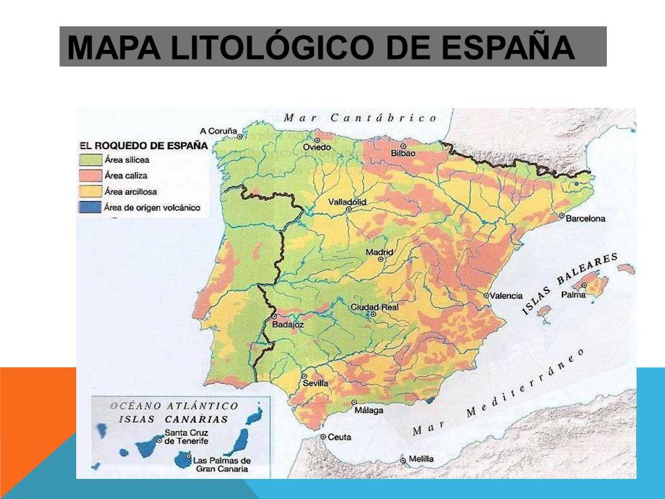 LA ESPAÑA SILÍCEA: Modelado granítico: pilancones PILANCONES: Depresiones esféricas poco profundas que se forman sobre el granito por el desgaste del agua de lluvia que se queda estancada.