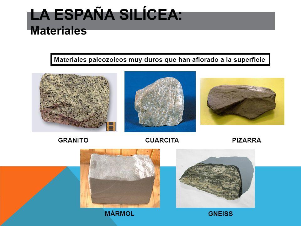 LA ESPAÑA ARCILLOSA Formas: relieves horizontales