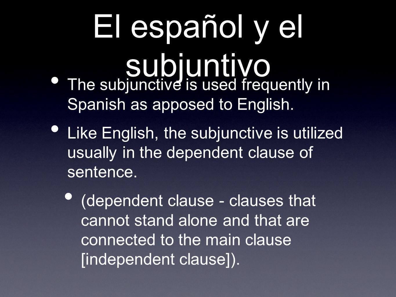 Las cláusulas Main Clause Sugiero Dependent Clause que Ud.