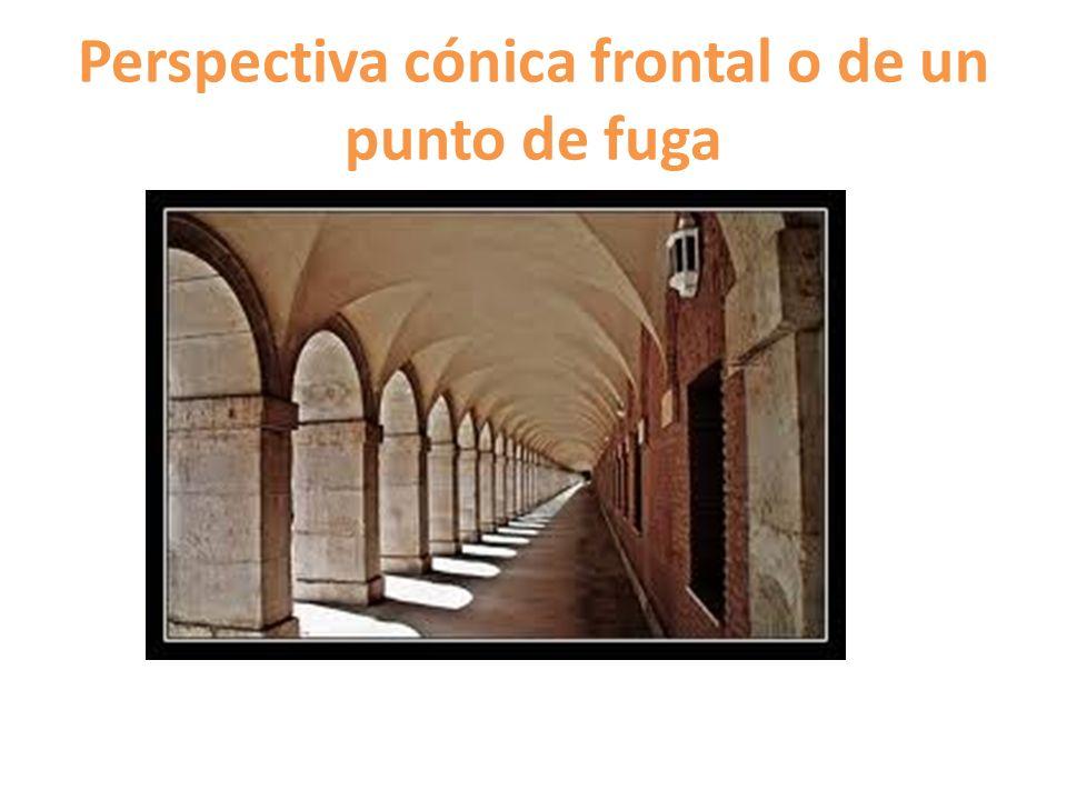 Perspectiva cónica frontal o de un punto de fuga