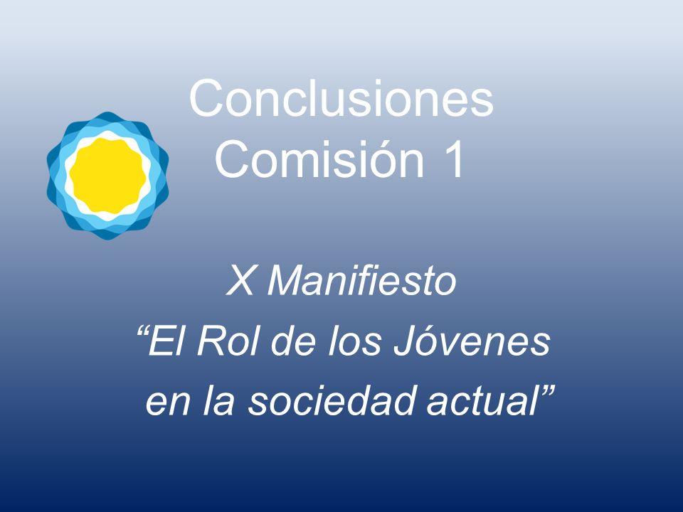 Conclusiones Comisión 1 X Manifiesto El Rol de los Jóvenes en la sociedad actual