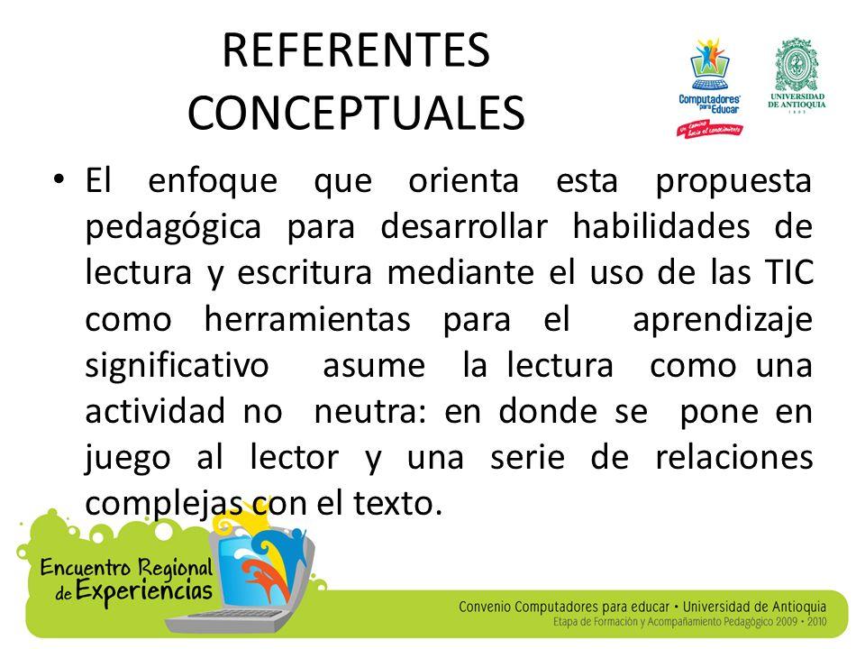 REFERENTES CONCEPTUALES Para ello, se dan algunas definiciones de lectura y se presentan técnicas convencionales para alcanzar la comprensión, así mismo, se aborda la estructura textual, a partir de los párrafos y las oraciones, lo cual integra la coherencia y la cohesión.