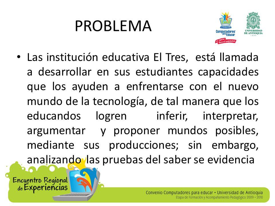 PROBLEMA un nivel bajo en el área de lengua castellana, en lo que atañe al conocimiento y uso de signos, reconocimiento y empleo de reglas que forman y organizan un hecho lingüístico, además de los mecanismos que dan cohesión y coherencia a la oración y a la globalidad del texto.