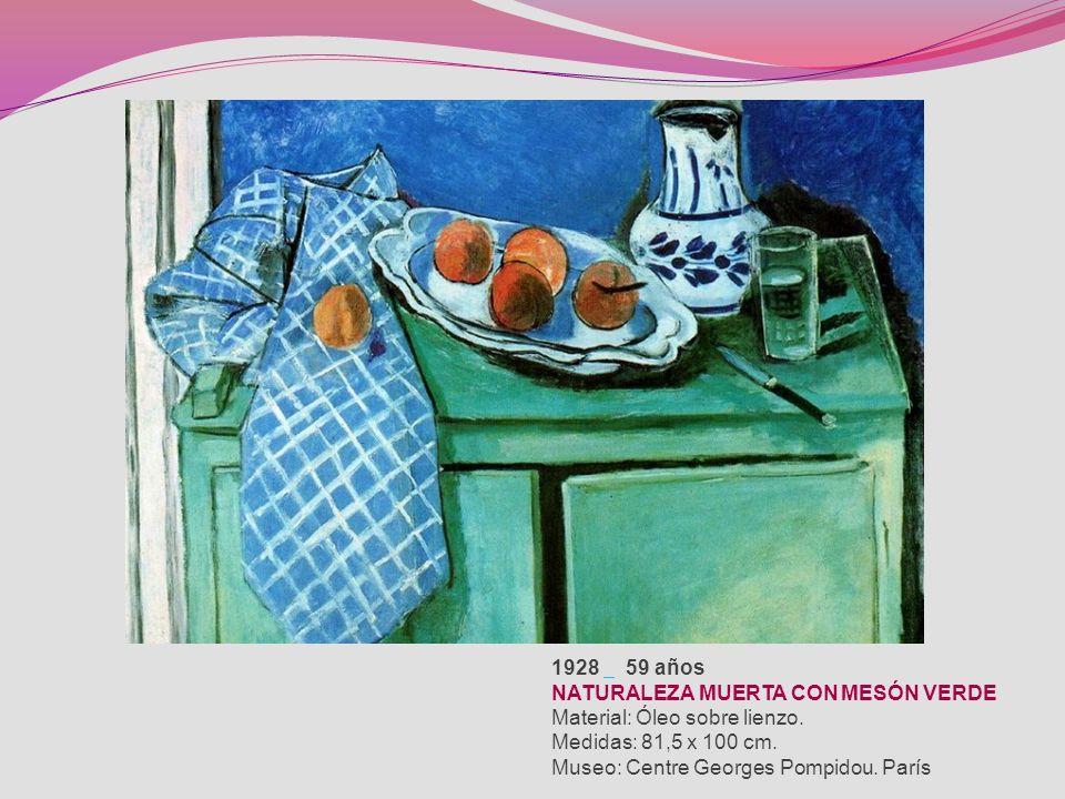 1911 42 años LA MÚSICA Material: Óleo sobre lienzo. Medidas: 260 x 389 cm. Museo: Hermitage. San Petersburgo
