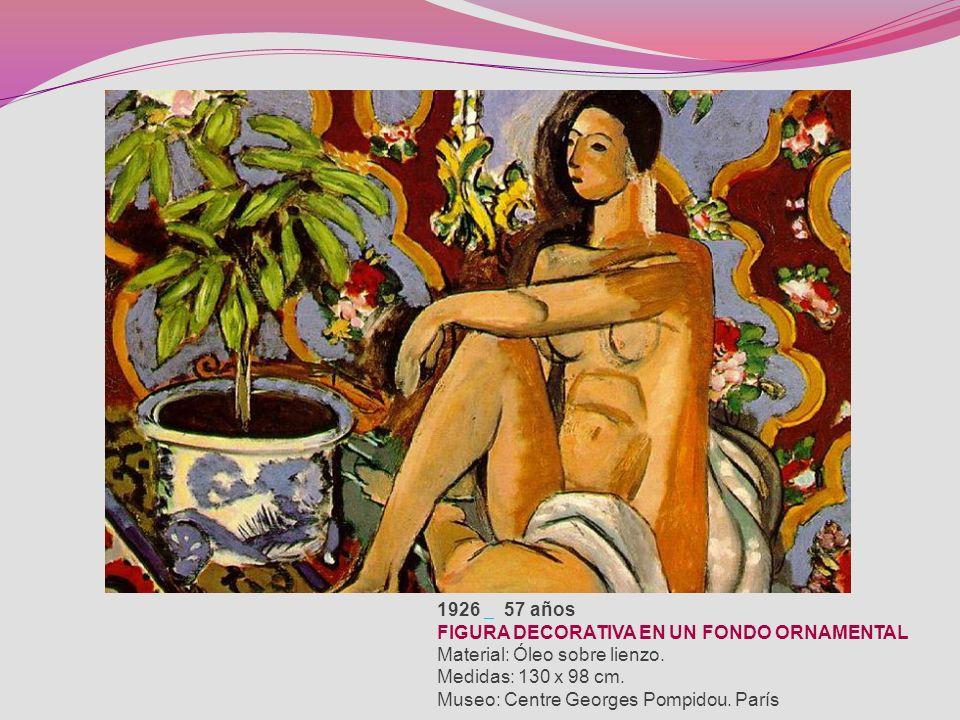 1928 59 años NATURALEZA MUERTA CON MESÓN VERDE Material: Óleo sobre lienzo. Medidas: 81,5 x 100 cm. Museo: Centre Georges Pompidou. París